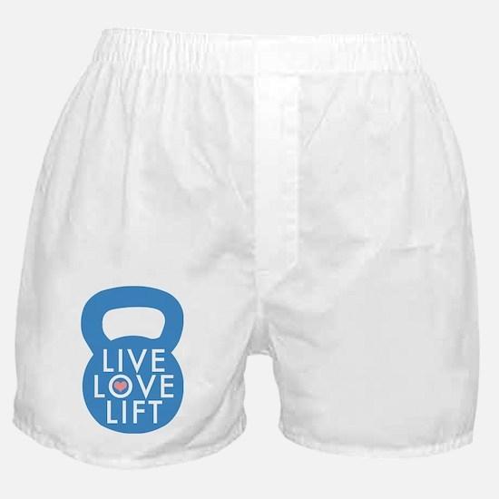 Blue Live Love Lift Boxer Shorts