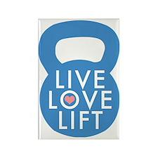 Blue Live Love Lift Rectangle Magnet