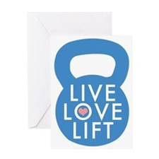 Blue Live Love Lift Greeting Card