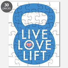 Blue Live Love Lift Puzzle