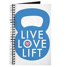 Blue Live Love Lift Journal