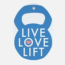 Blue Live Love Lift Oval Ornament
