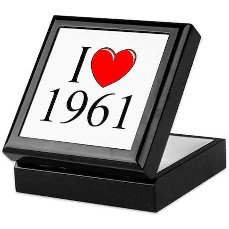 """""""I Love 1961"""" Keepsake Box"""