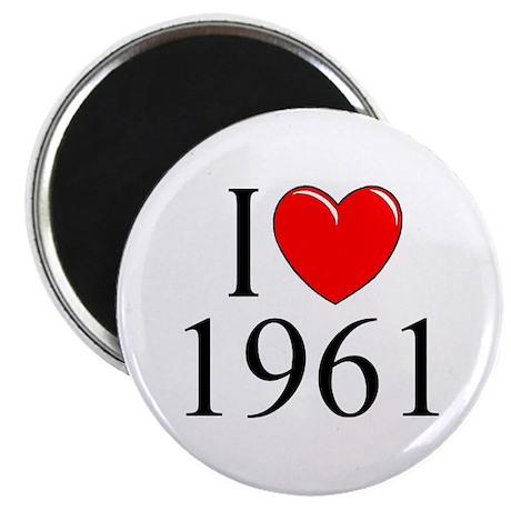 """I Love 1961"" Magnet"