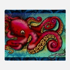 Octopus poster Throw Blanket