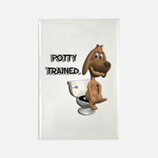 Potty Trained Puppy Dog Rectangle Magnet
