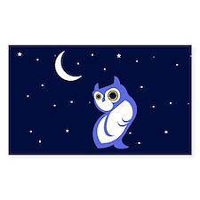 Night Owl Rectangle Decal