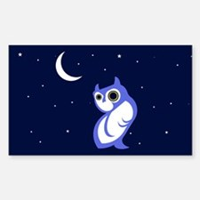 Night Owl Rectangle Decal