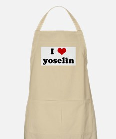 I Love yoselin BBQ Apron