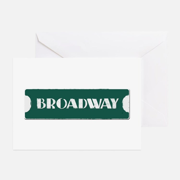 Broadway Street Sign Greeting Cards (Pk of 10)