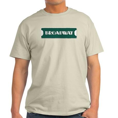 Broadway Street Sign Light T-Shirt