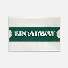 Broadway Street Sign Rectangle Magnet