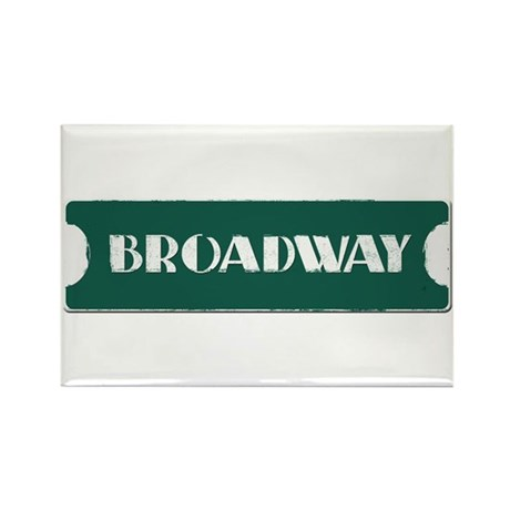 Broadway Street Sign Rectangle Magnet (10 pack)