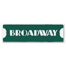 Broadway Street Sign Bumper Sticker