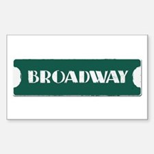 Broadway Street Sign Decal