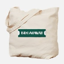 Broadway Street Sign Tote Bag