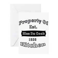 Property Of Kiss Da Cook Kitc Greeting Cards (Pack