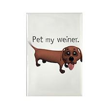 Pet My Weiner (Daschund) Rectangle Magnet