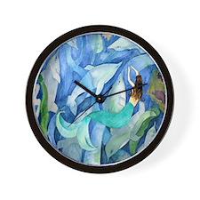 Dolphin  Mermaid Party Wall Clock