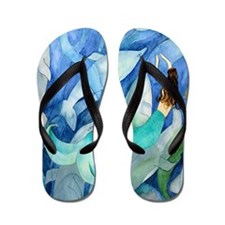 Dolphin  Mermaid Party Flip Flops