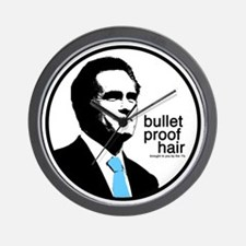 Mitt Bullet Proof Hair Wall Clock