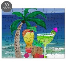 Tropical Drinks on the beach Puzzle