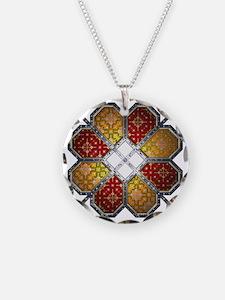 RedSun Necklace Circle Charm