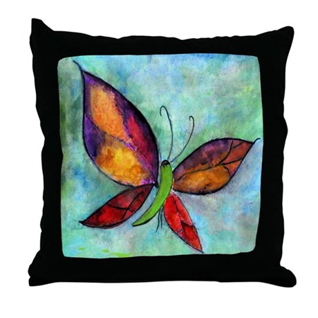 Butterfly Art Throw Pillow