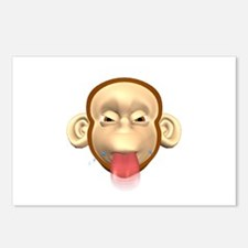 Monkey Sticking Out Tongue Postcards (Package of 8