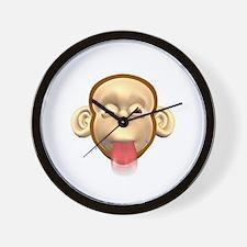 Monkey Sticking Out Tongue Wall Clock