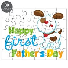 Puppy Dog Happy 1st Fathers Day Puzzle