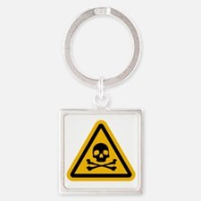 Danger! Square Keychain