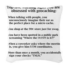 Obsessed Tshirt Woven Throw Pillow