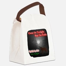 Come For Twilight, Stay For Forks Canvas Lunch Bag