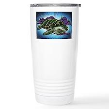 Sea Turtle art by Julie Oakes Travel Mug