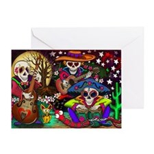 Day of the Dead Music art by Julie O Greeting Card