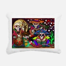 Day of the Dead Music ar Rectangular Canvas Pillow
