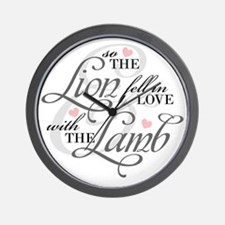Lion  Lamb Wall Clock