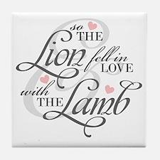 Lion  Lamb Tile Coaster