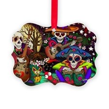 Day of the Dead Music art by Juli Ornament