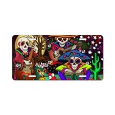 Day of the Dead Music art b Aluminum License Plate