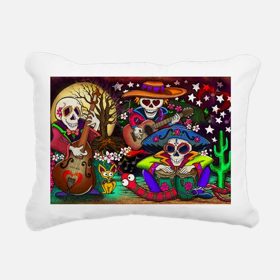 Day of the Dead Music ar Rectangular Canvas Pillow