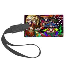 Day of the Dead Music art by Jul Luggage Tag