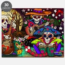 Day of the Dead Music art by Julie Oakes Puzzle