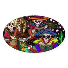 Day of the Dead Music art by Julie  Decal
