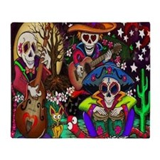 Day of the Dead Music art by Julie O Throw Blanket