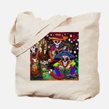 Day of the Dead Music art by Julie Oakes Tote Bag