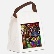 Day of the Dead Music art by Juli Canvas Lunch Bag