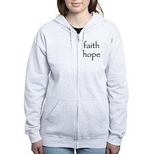 faith hope Zip Hoodie