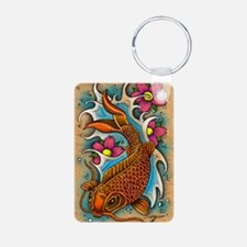 Koi Fish Art by Julie Oake Keychains
